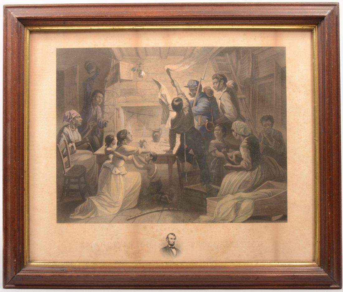 "8: Print ""Reading the Emancipation Proclamation."" Parti"