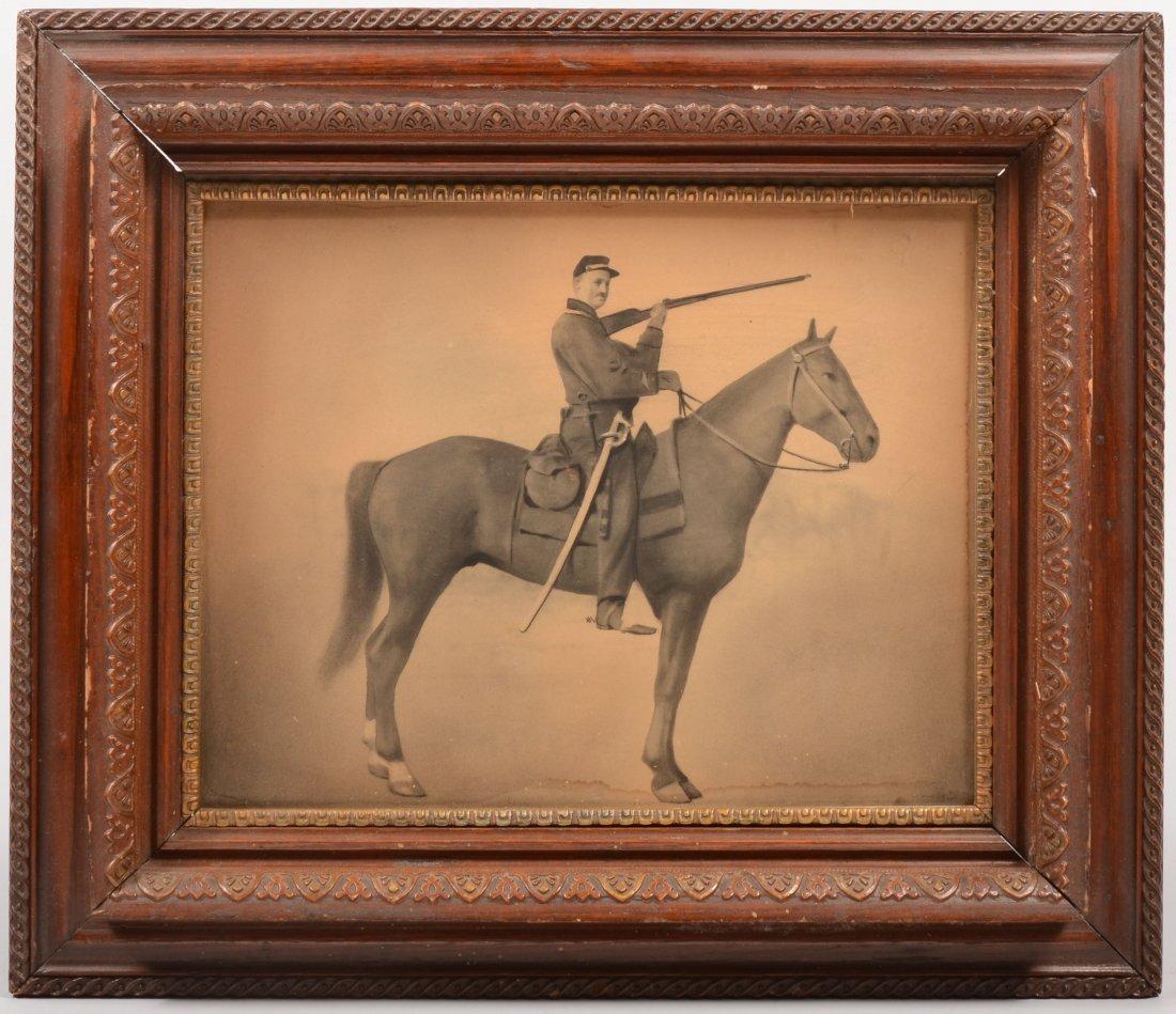 10: Image of a Civil War Era Horse Soldier. An enhanced