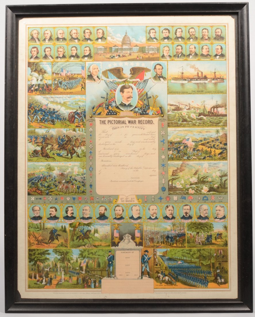 13: Large Color Lithographic Civil War Soldier's Record