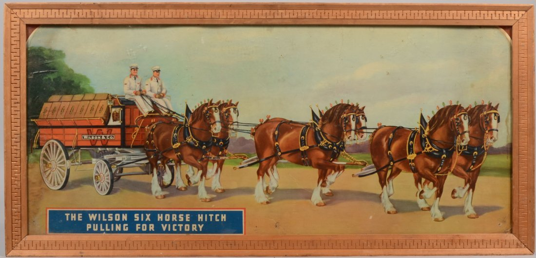 """14: """"The Wilson Six Horse Hitch. . ."""" Color Poster Card"""