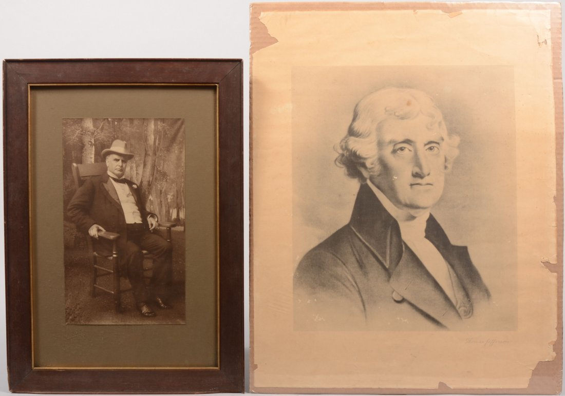 23: Two Past President Images. A B &W print of William
