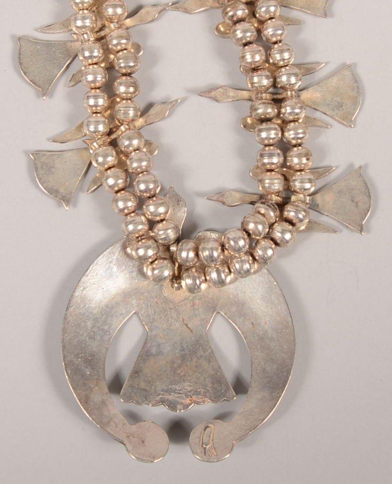 221: Vintage Navajo Peyote Bird Silver, Turquoise and C - 3