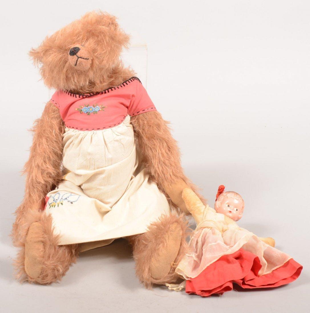 "8: Handmade Mohair Bear by Letty Worley. Bear titled: """