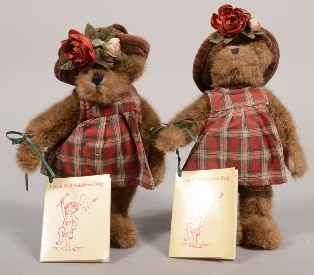 """12: Two Boyd's Collector's Edition Stuffed Bears. """"Lizz"""