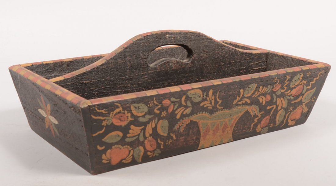 13: Painted Wood Tool Carrier Tray. Produced for Hearth