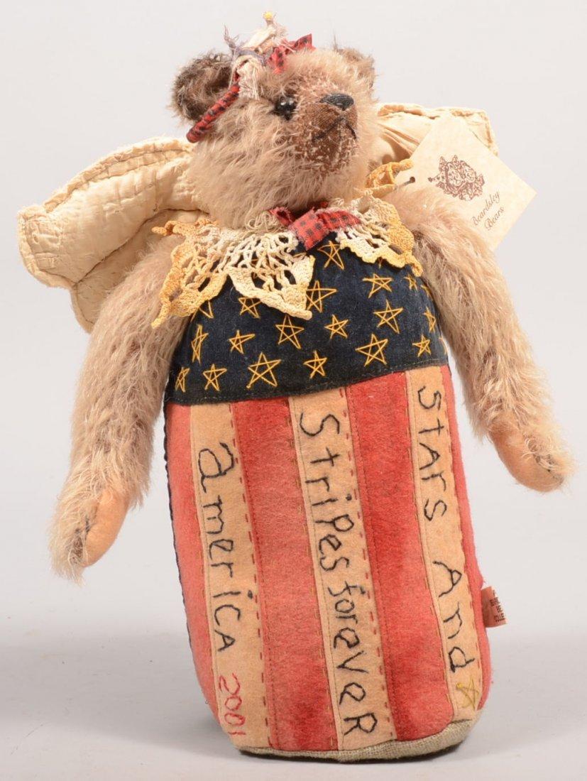 23: Beardsley Bear Weighted Patriotic Door Stop. Attach