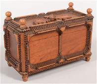 489 Chip Carved Tramp Art Style Dresser Box Single an