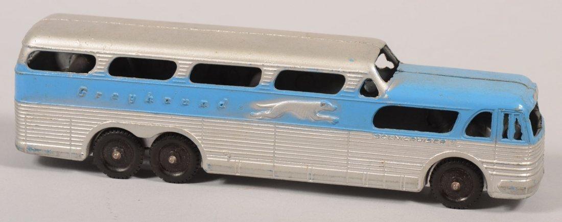 769: Tootsietoy Scenicruiser Greyhound Bus Toy. Blue an
