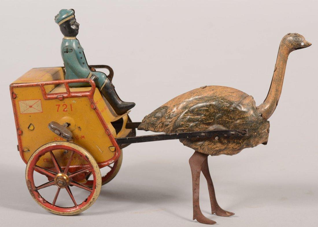 787: Lehmann Zulu Lithographed Tin Wind-up Cart. #721 w