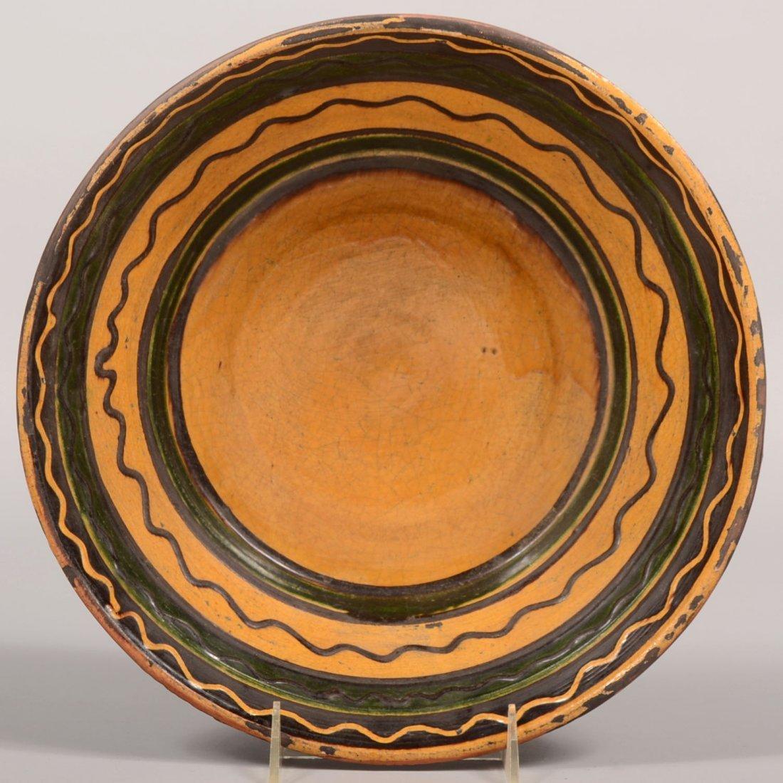 "Mary Shooner Slip Decorated Redware Bowl. Marked: ""Mary"