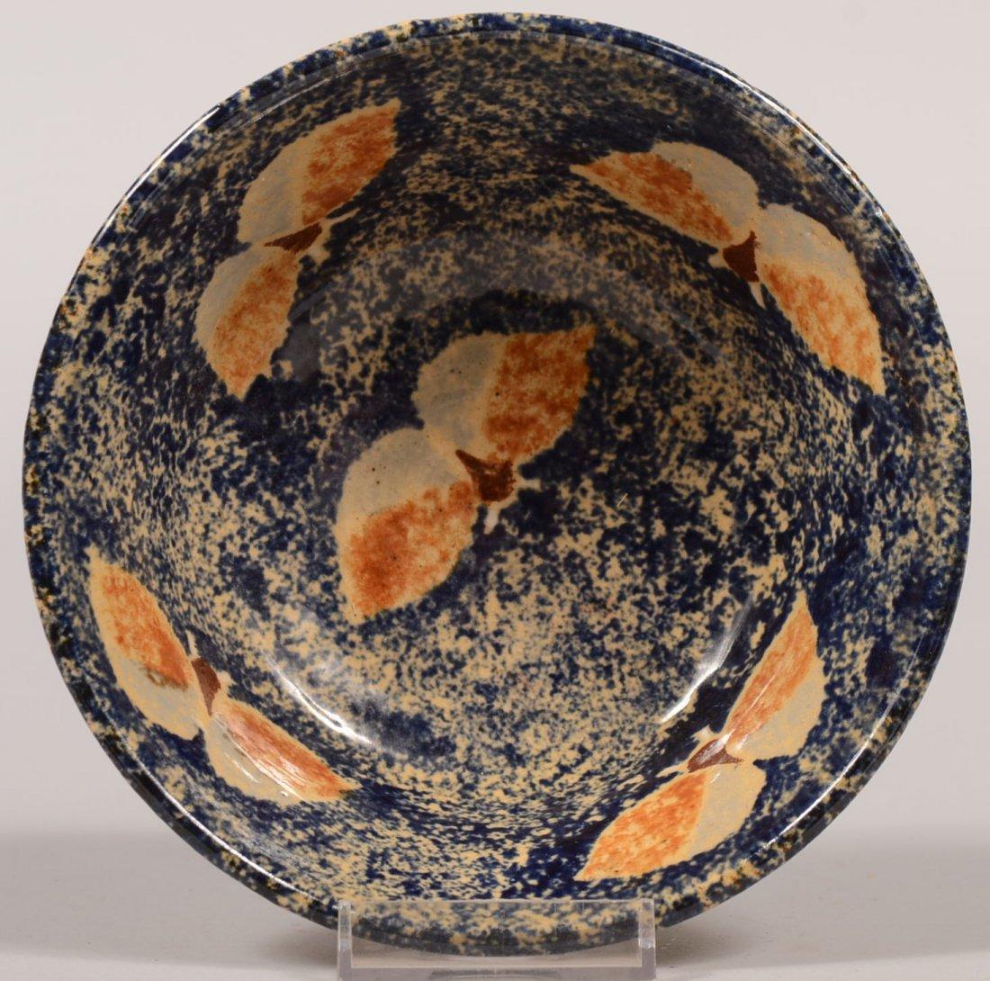 Left Handed Russel Henry Stoneware Bowl. Natural exteri
