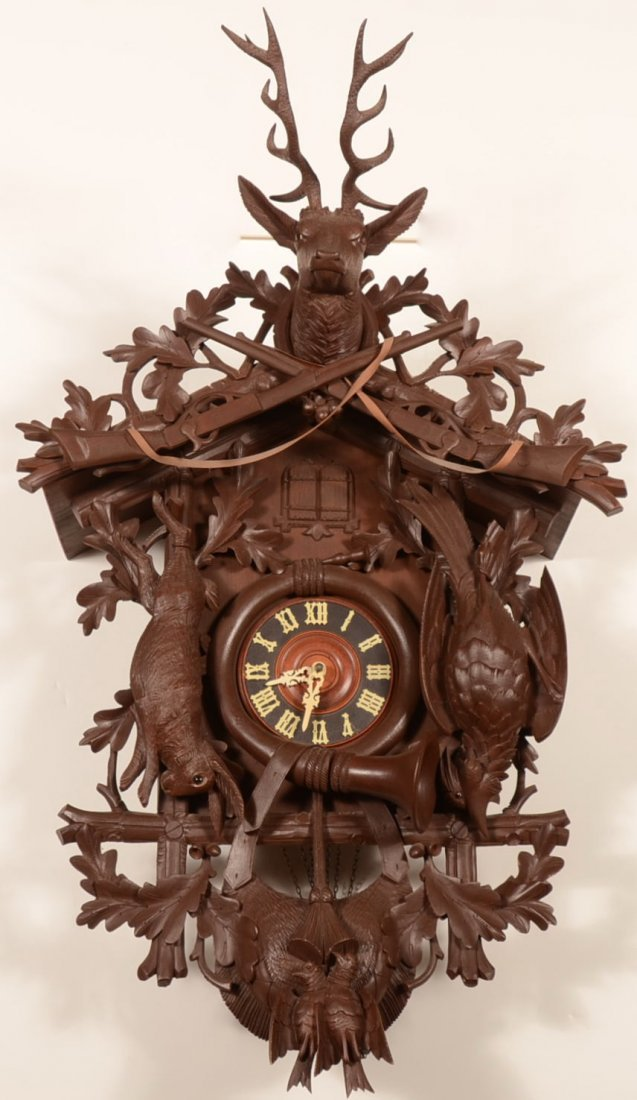 20th Cent. Carved Black Forest Cuckoo Wall Clock.