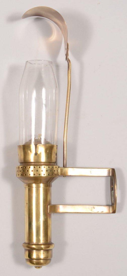 Adams & Westlake Co. Brass Candle Wall Lamp. Spring loa - 2