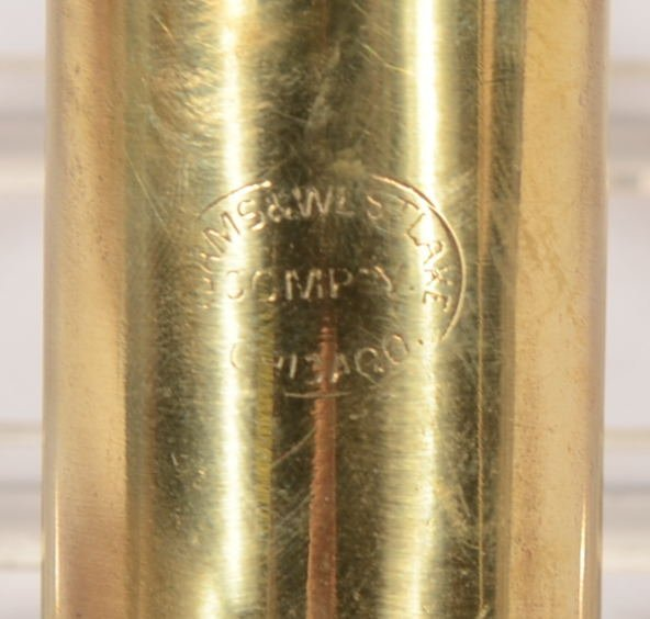 Adams & Westlake Co. Brass Candle Wall Lamp. Spring loa - 4