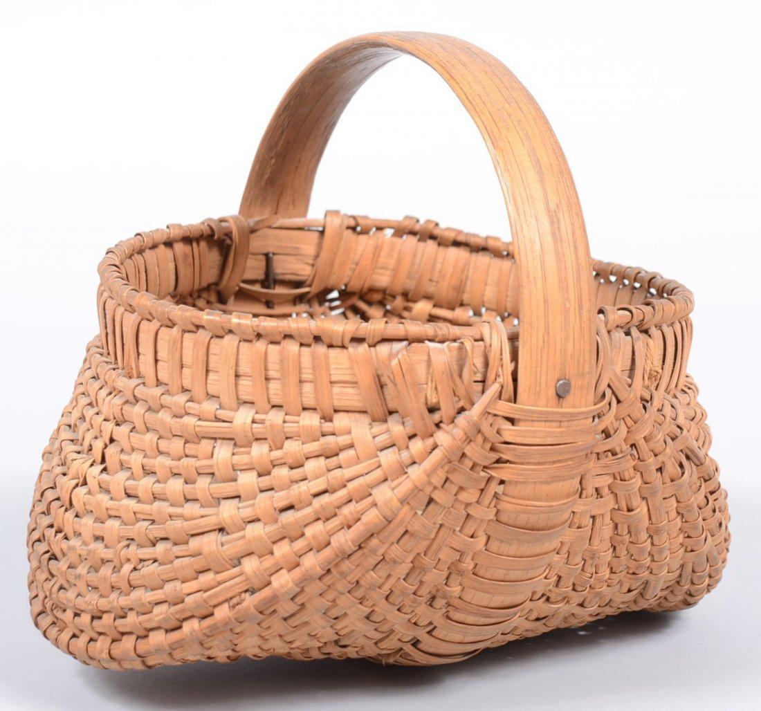 2. Woven Splint White Oak Buttocks Form Egg Basket. Rou