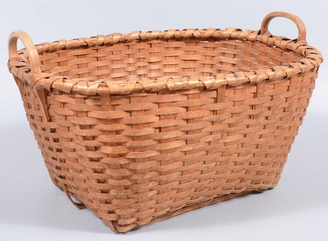 4. Rectangular Woven White Oak Service Basket. Wrapped
