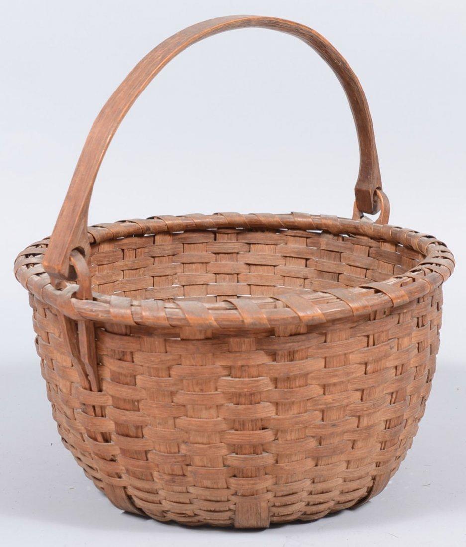 6. Round Split White Oak Swing Handle Basket. Wrapped s