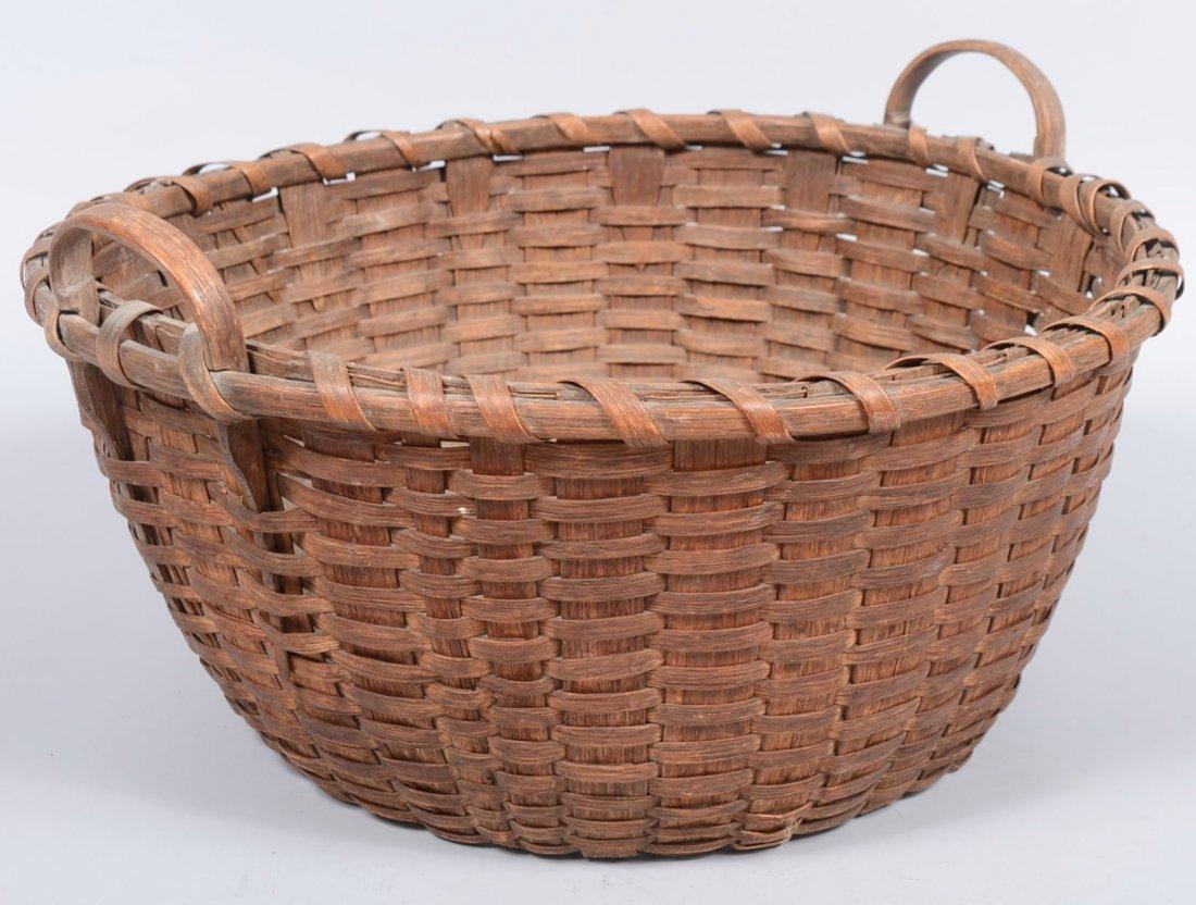 19. Woven Split White Oak Service Basket. Wide tapered