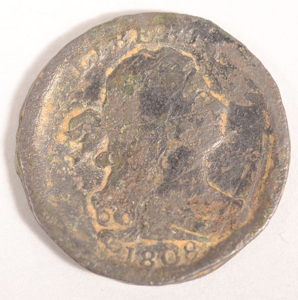 1808 DRAPED BUST 1/2 CENT