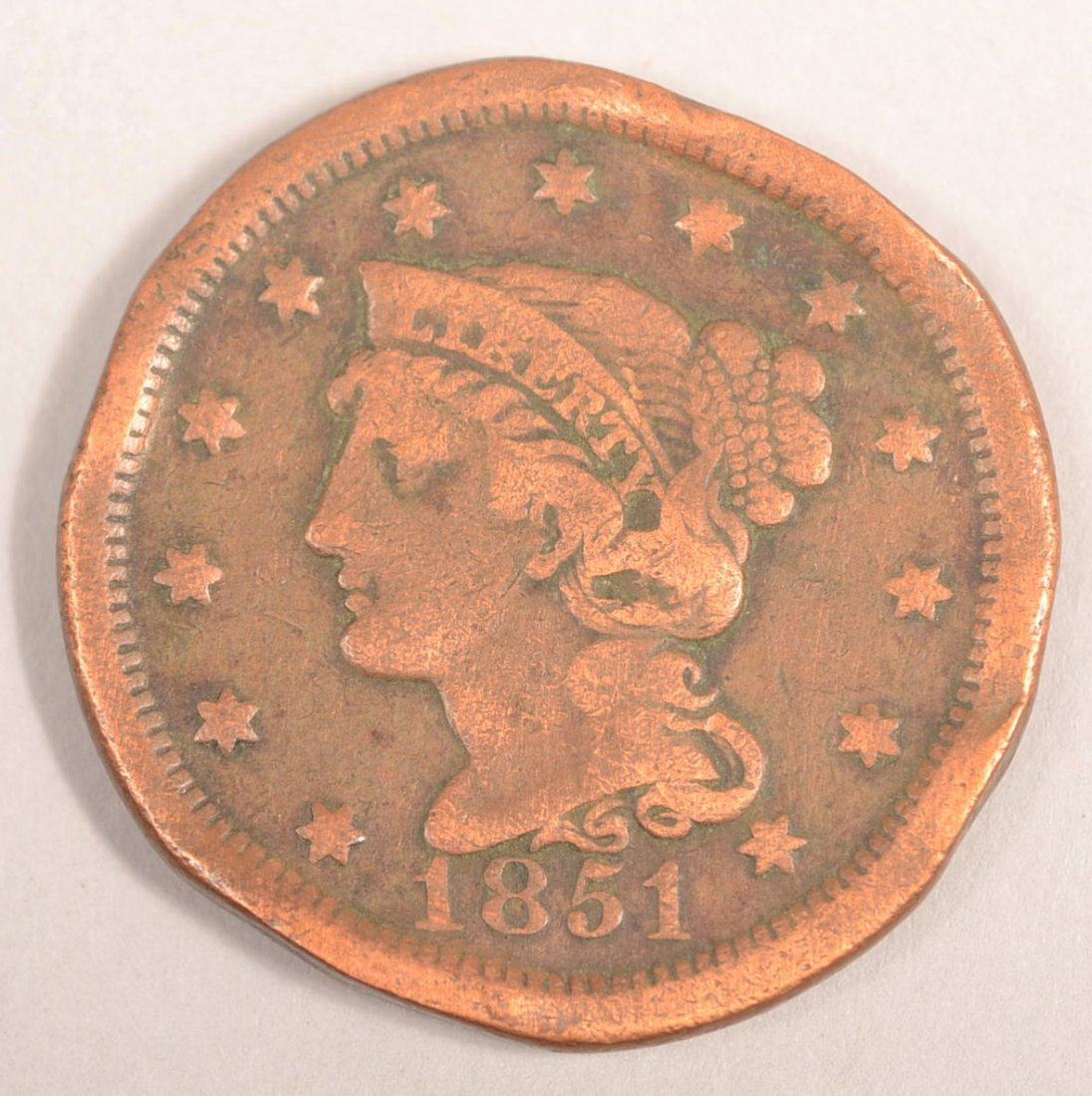 1851 LARGE CENT (NORMAL DATE)