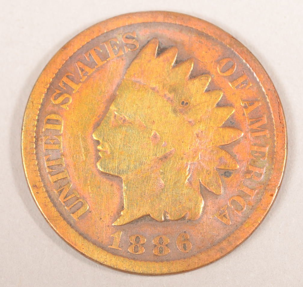 1886 INDIAN HEAD PENNY (VARIETY 2)