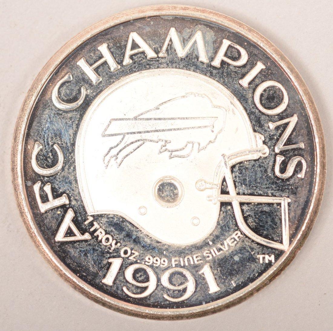 1991 Buffalo Bills 1 Troy Oz Round Silver Coin