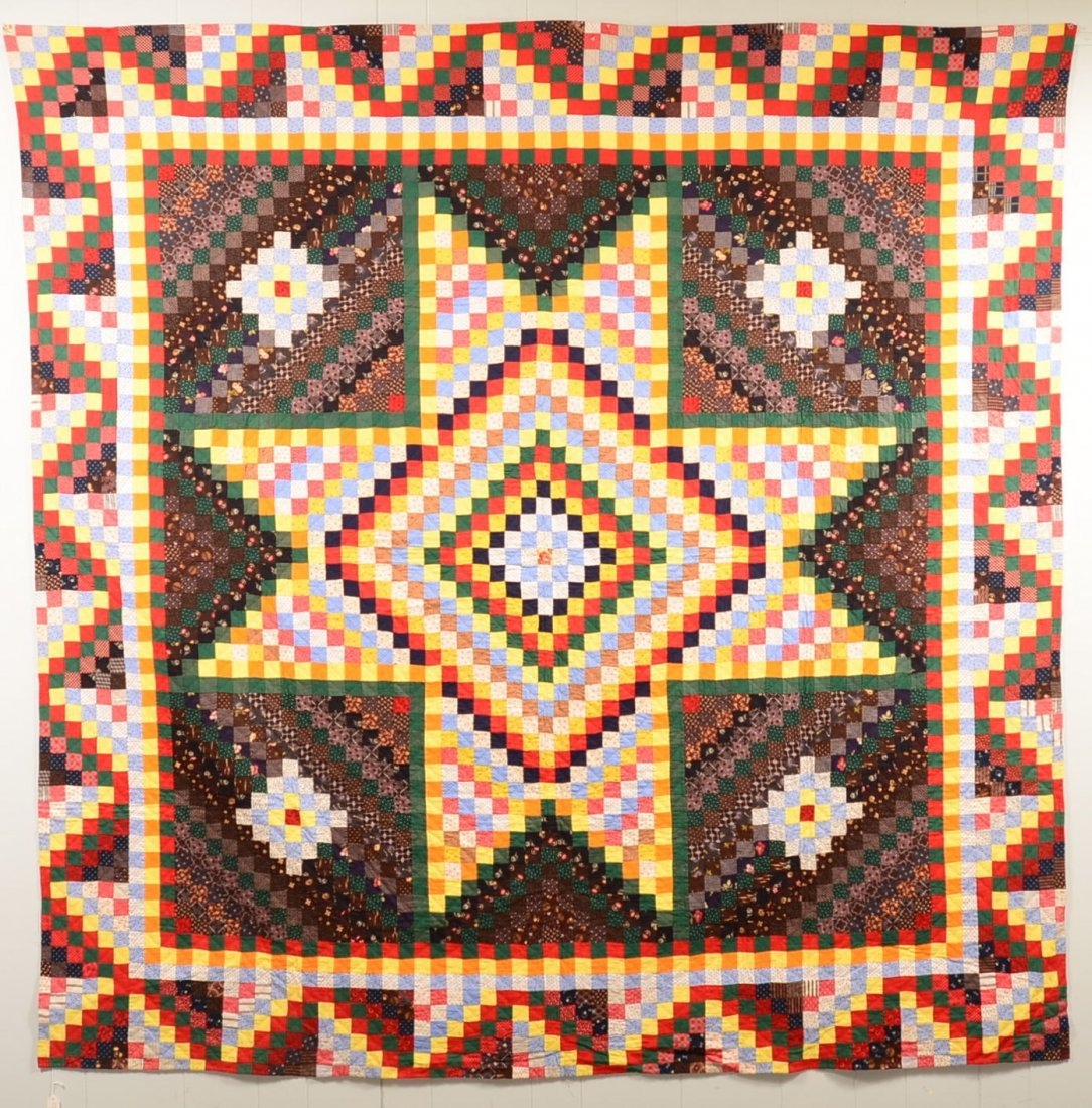 290. Pennsylvania Bowmansville Star Pattern Quilt.