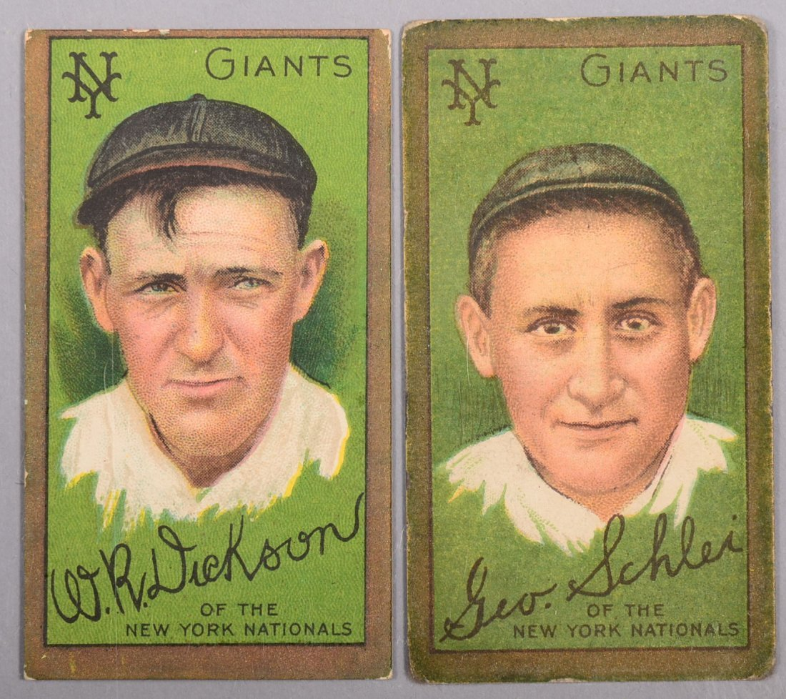 Two T-205 gold border cards circa 1911. The first is W.