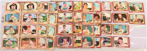 Sixty-six 1955 Bowman cards including sixty different.