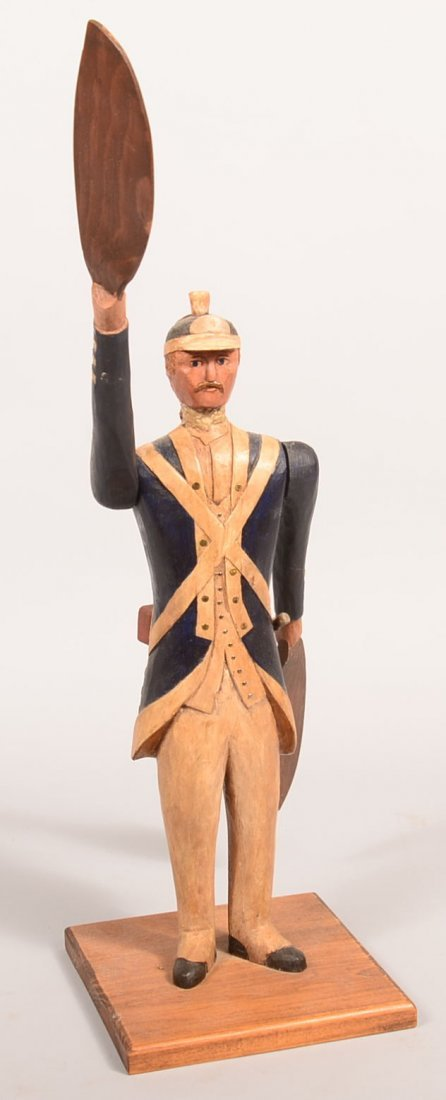 Gus Nelson Revolution War Soldier Whirly Gig. Wooden