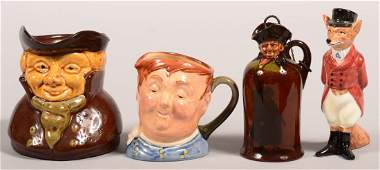 Three Various Pieces of Royal Doulton Porcelain and a