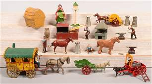 Grouping of Painted Cast Metal Figures Including Eebee