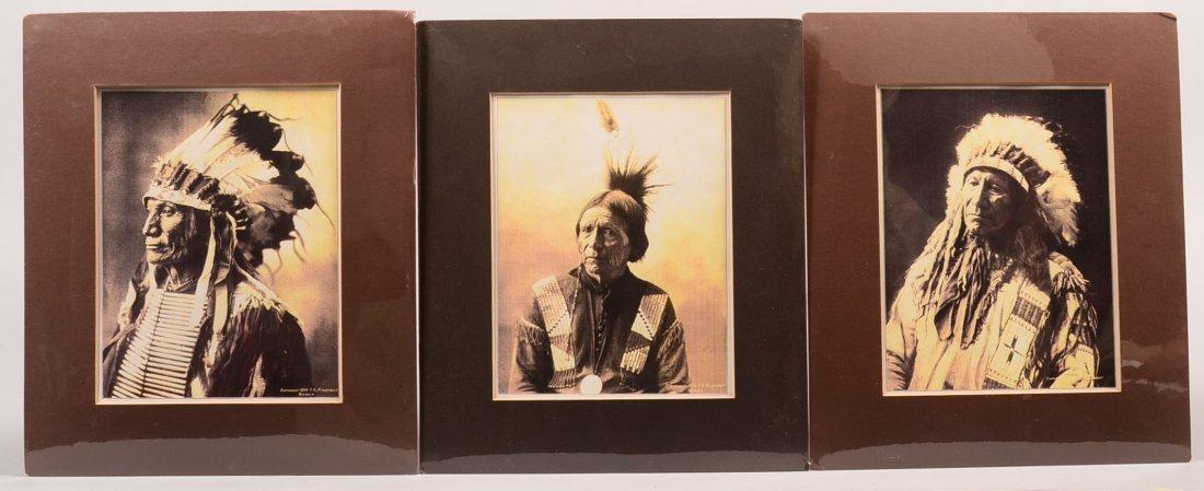 3 Sepia-toned photo-prints by F.A. Rinehart - Portraits