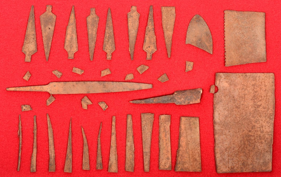 A really good collection of antique, Plains Indian iron
