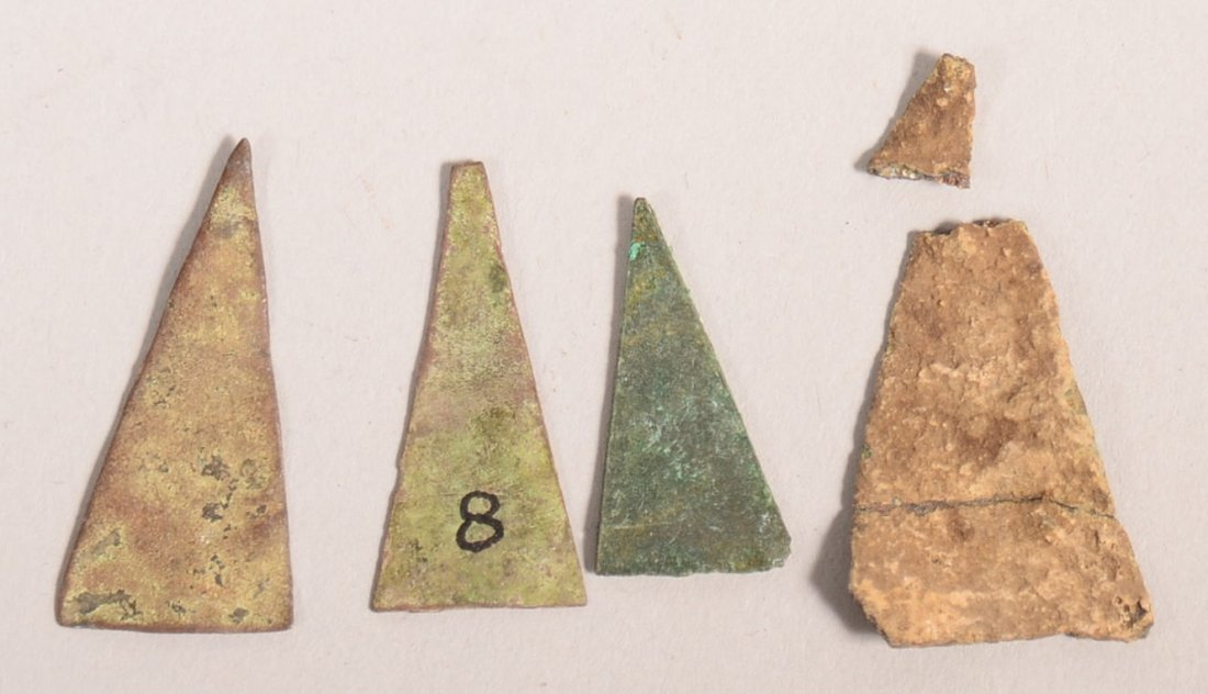 4 17th cent. Iroquois Indian brass arrow points found