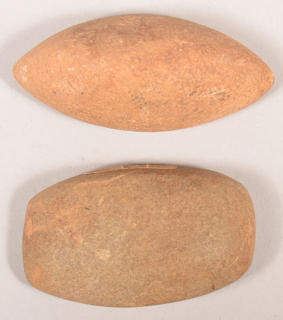 2 Pre-historic artifacts from Arkansas - a loaf shaped