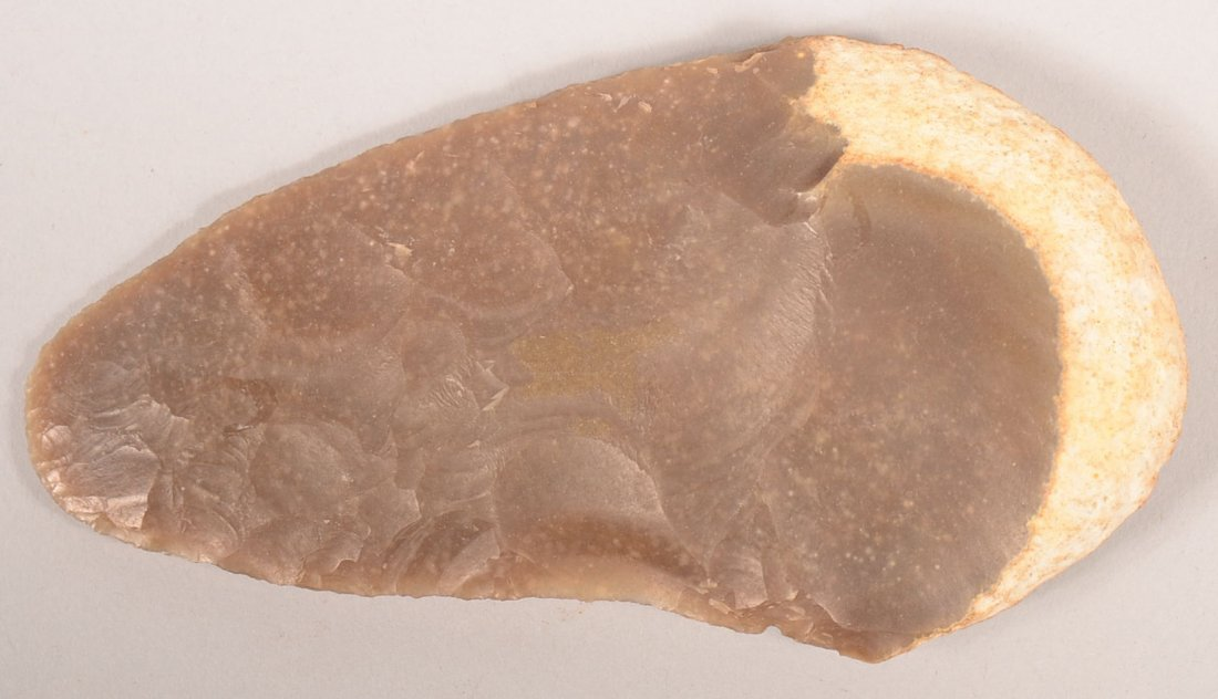 A pre-historic flint knife from central Texas,