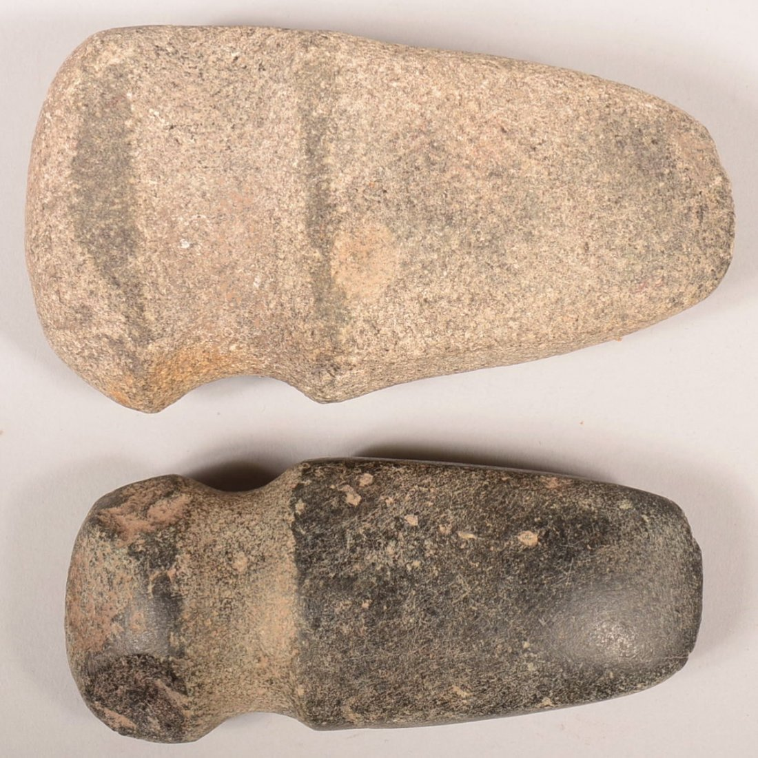 2 Pre-historic hard stone axes from the Central U.S. -