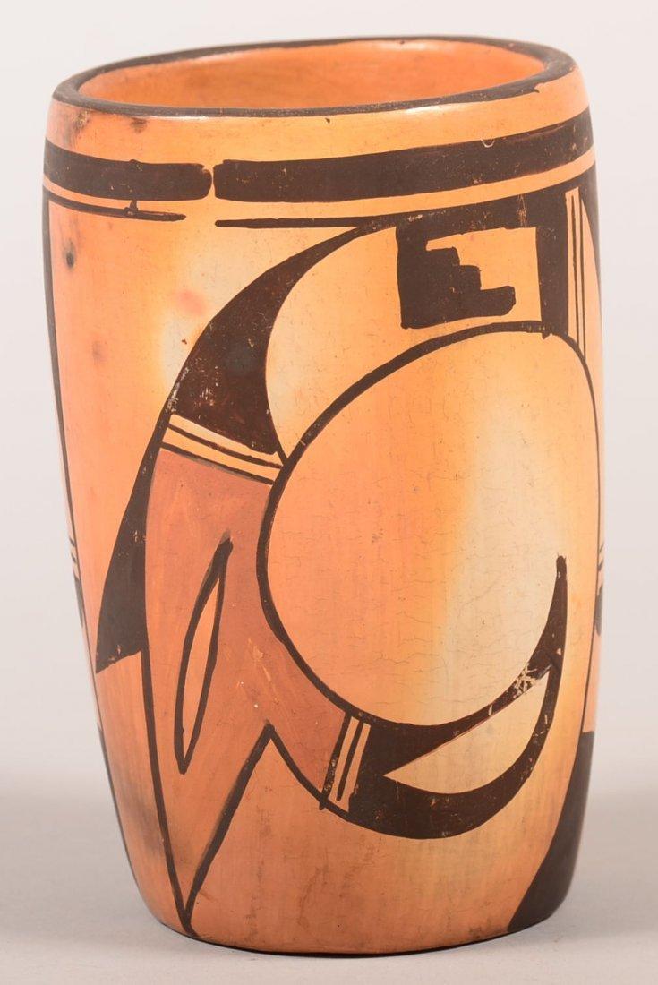 A good vintage Hopi Indian vase of decorated Terra