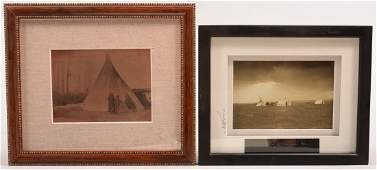 2 framed photo prints  Umatilla tepee Blackfoot