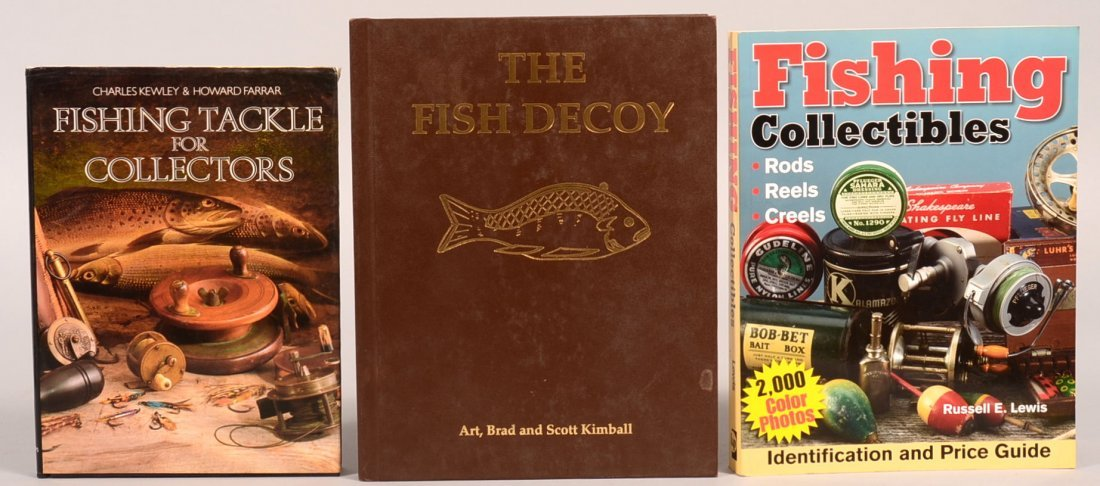 "Book lot of (3): ""Fishing Collectibles"" by Lewis; ""The"