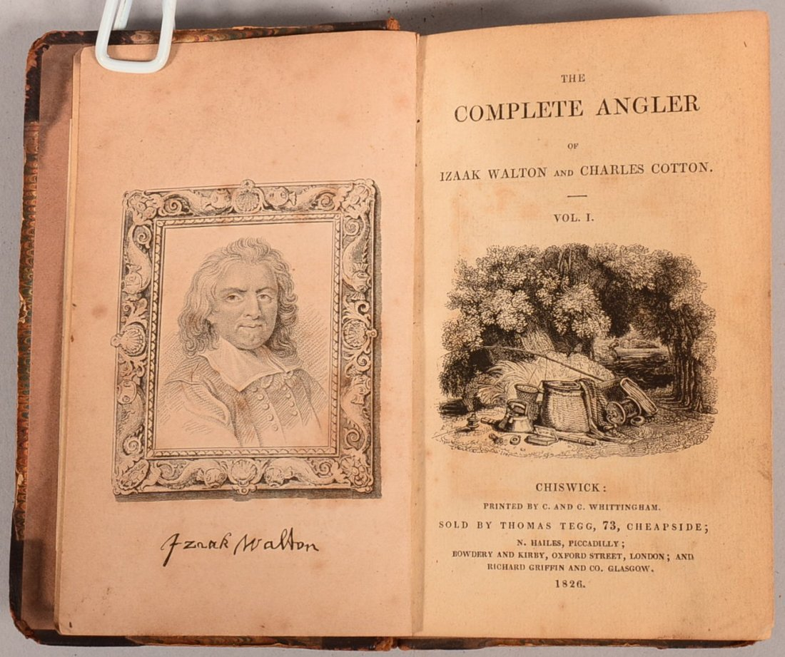 """The Complete Angler"", London 1826 by Walton & Cotton."