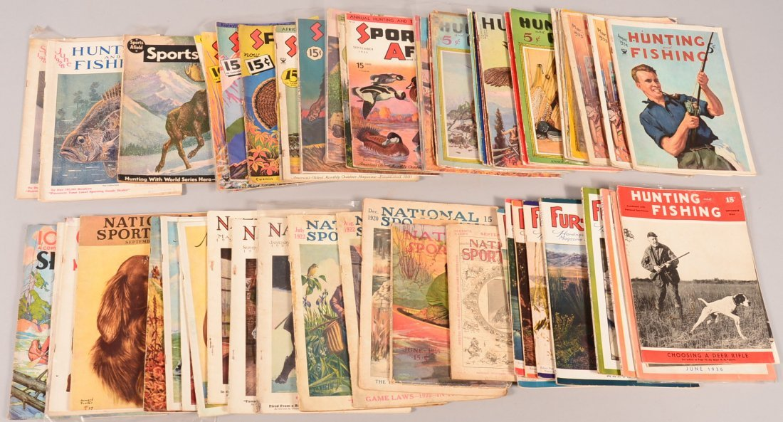 "Lot of (60) vintage sporting magazines: ""National"