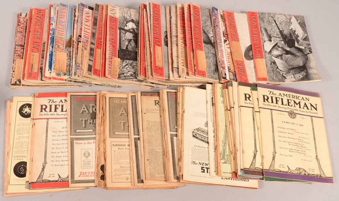 "Lot of 107 vintage ""American Rifleman"": (54) dated 1922"