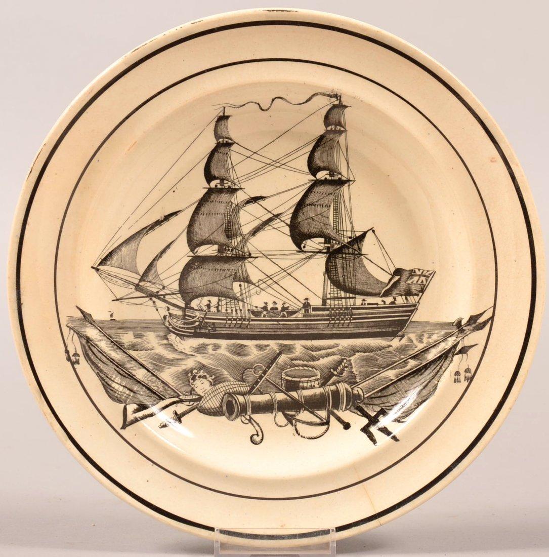 Impressed Dillwyn Pearlware plate (Welsh, Dillwyn,