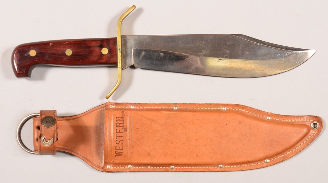 Western Cutlery Company massive clip point Bowie knife