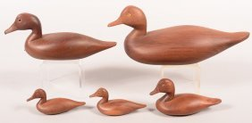Decoy Lot Of (5) Horace Graham Signed Unpainted Natural