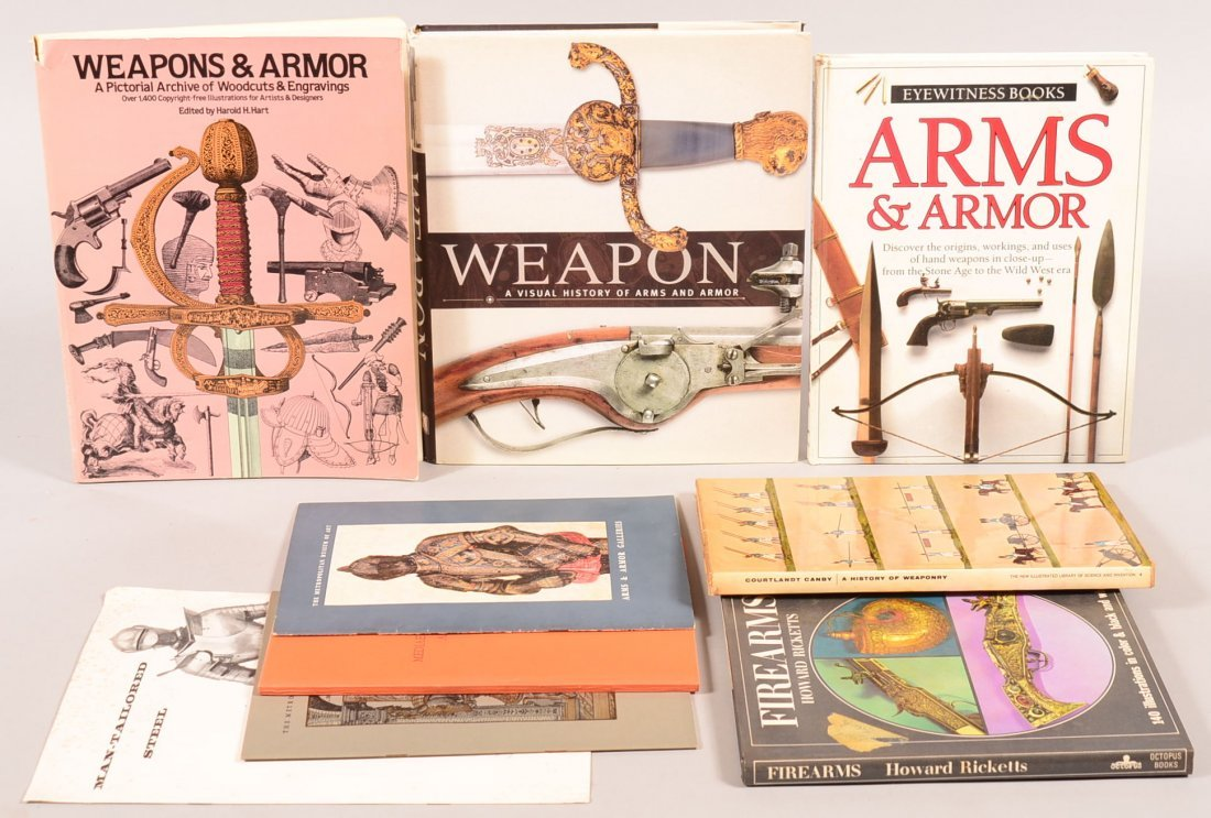 Book lot of (5) plus pamphlets: antique arms and armor.