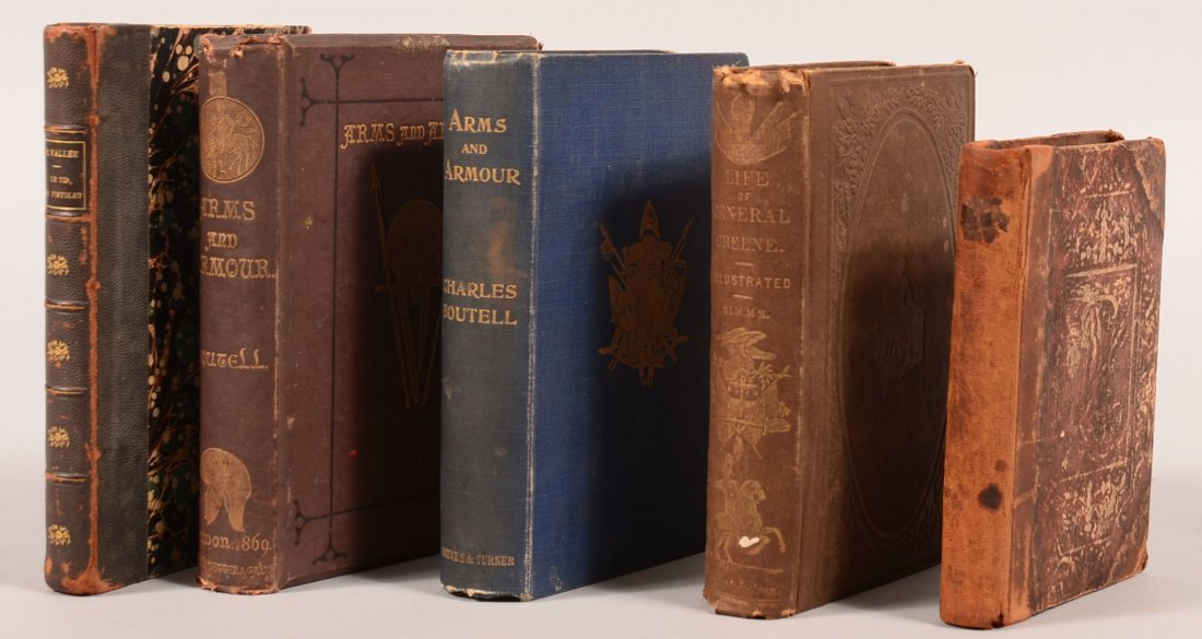 """Book lot of (5) incl """"Arms and Armour"""" by Boutell 1869"""