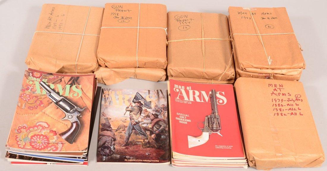 "Lot of gun collector periodicals incl. ""Man at Arms"""